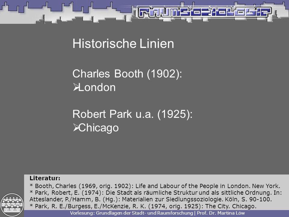 Historische Linien Charles Booth (1902): London