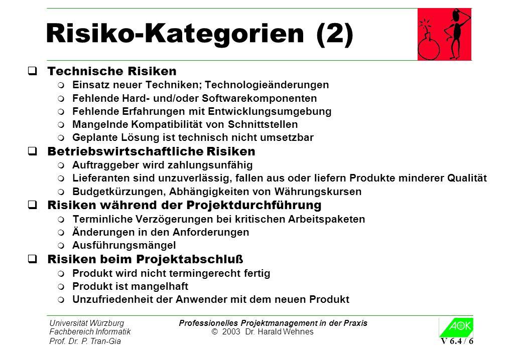 Risiko-Kategorien (2) Technische Risiken