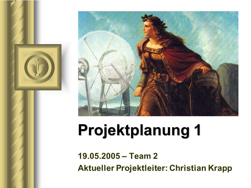 19.05.2005 – Team 2 Aktueller Projektleiter: Christian Krapp