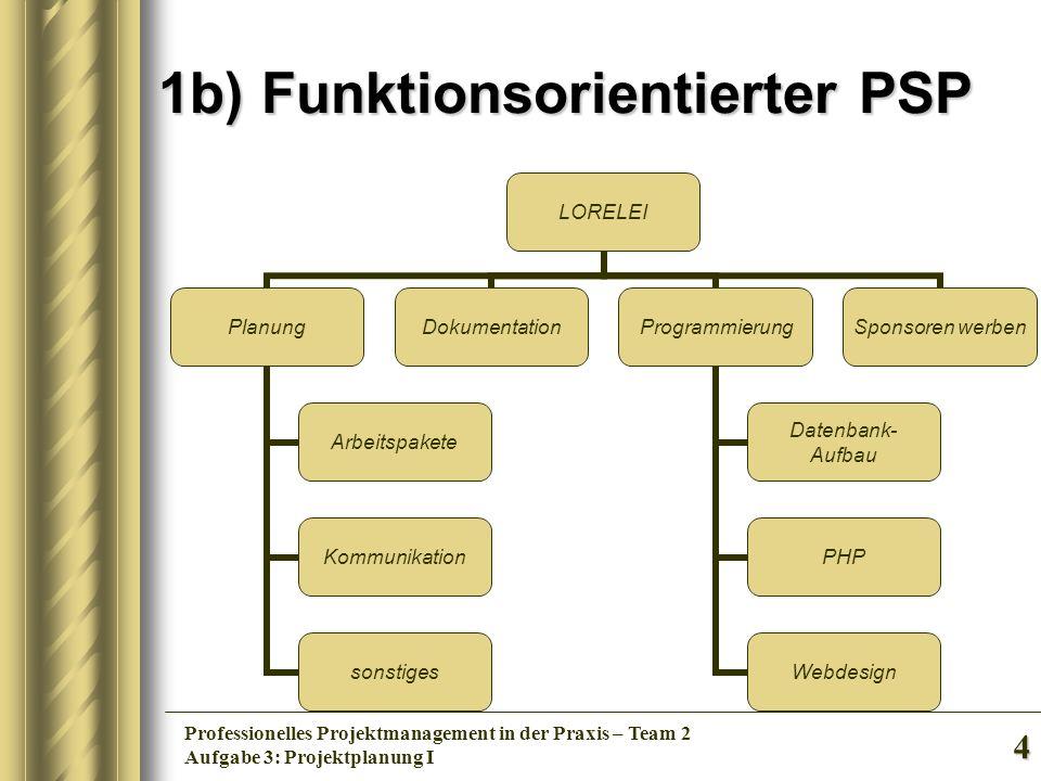 1b) Funktionsorientierter PSP