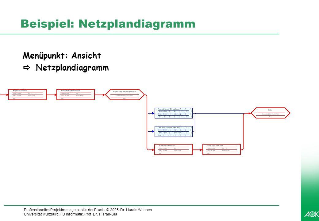 Beispiel: Netzplandiagramm