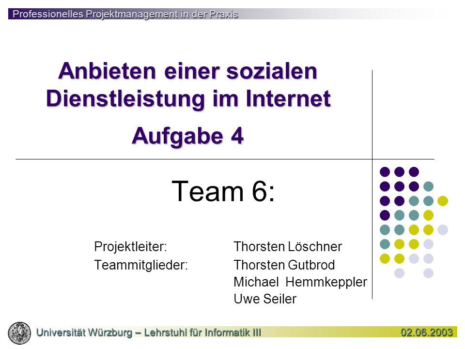 Anbieten einer sozialen Dienstleistung im Internet Aufgabe 4