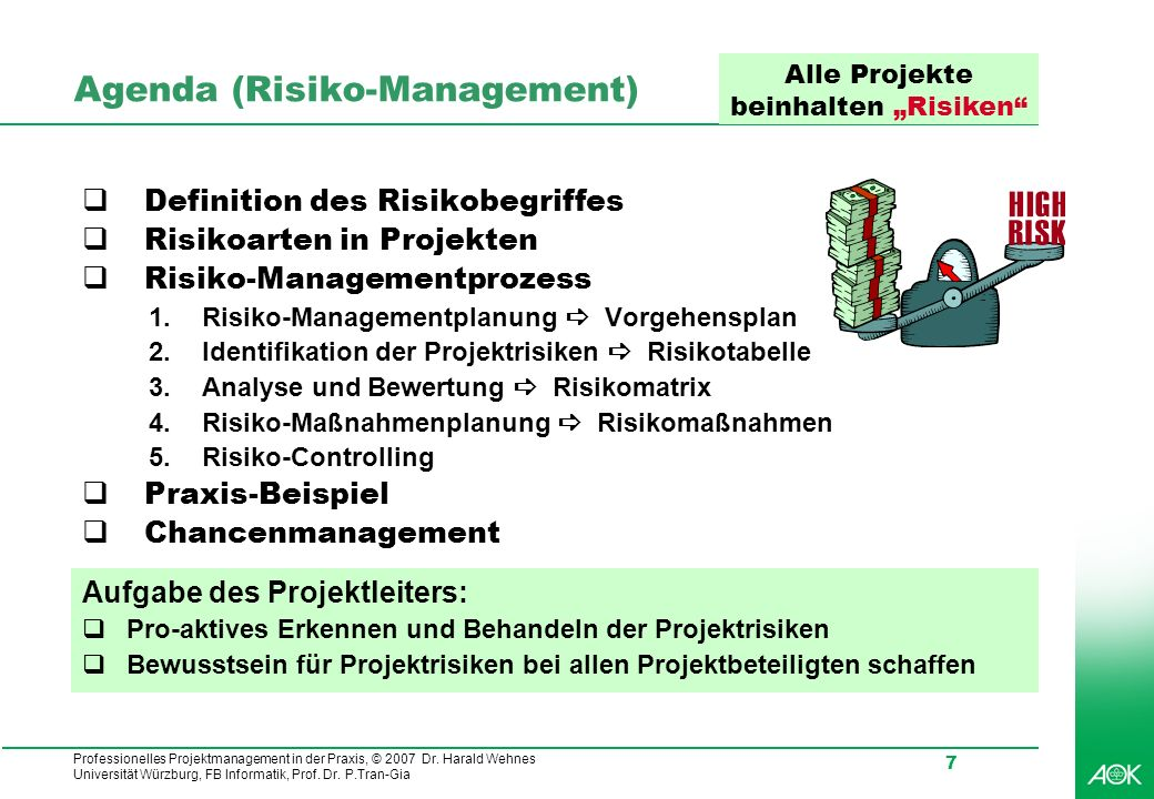 Agenda (Risiko-Management)