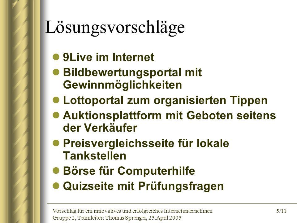 Lösungsvorschläge 9Live im Internet