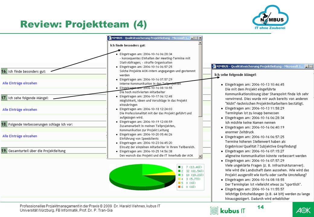 Review: Projektteam (4)