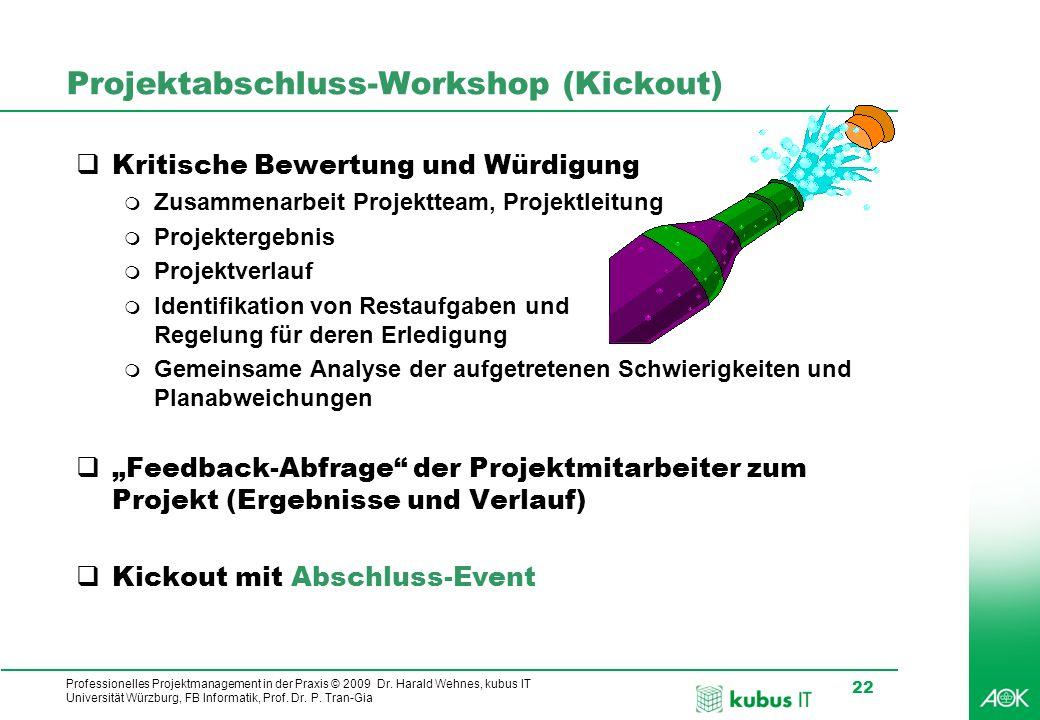 Projektabschluss-Workshop (Kickout)