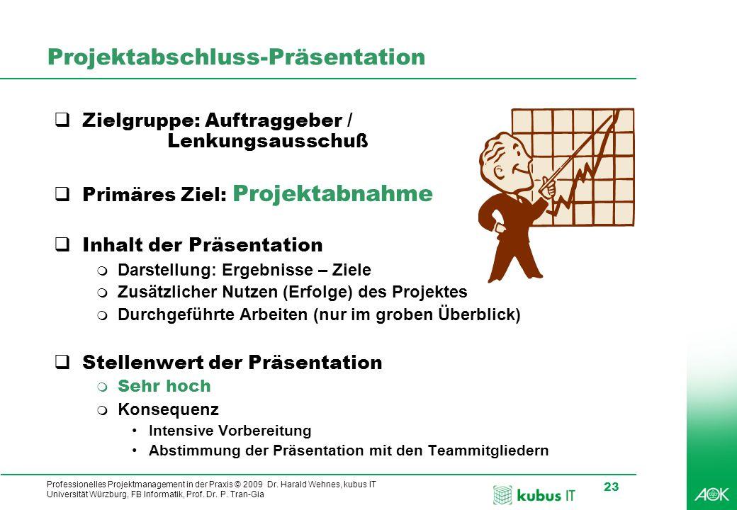 Projektabschluss-Präsentation