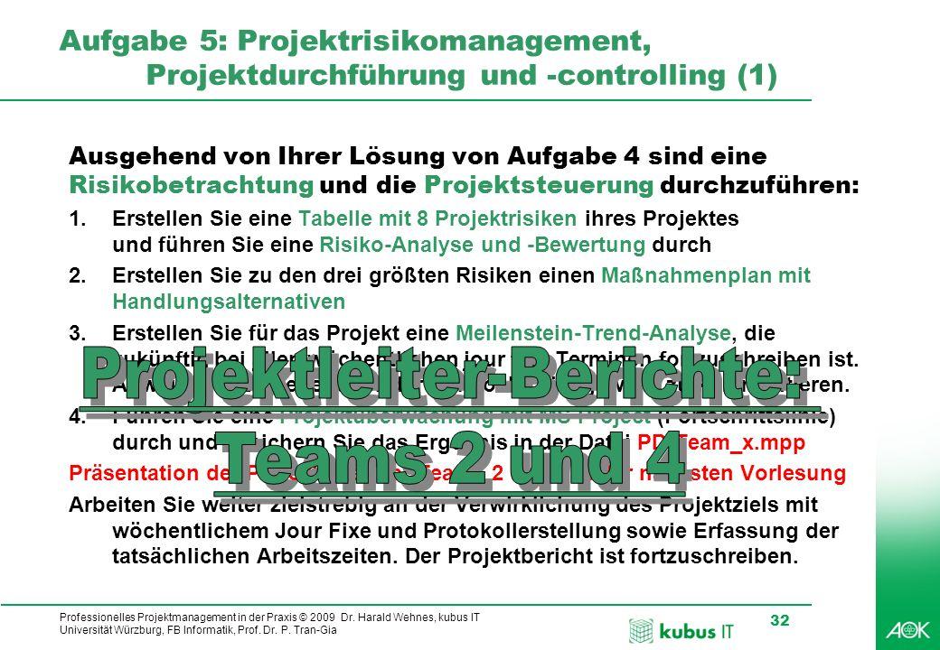 Projektleiter-Berichte: