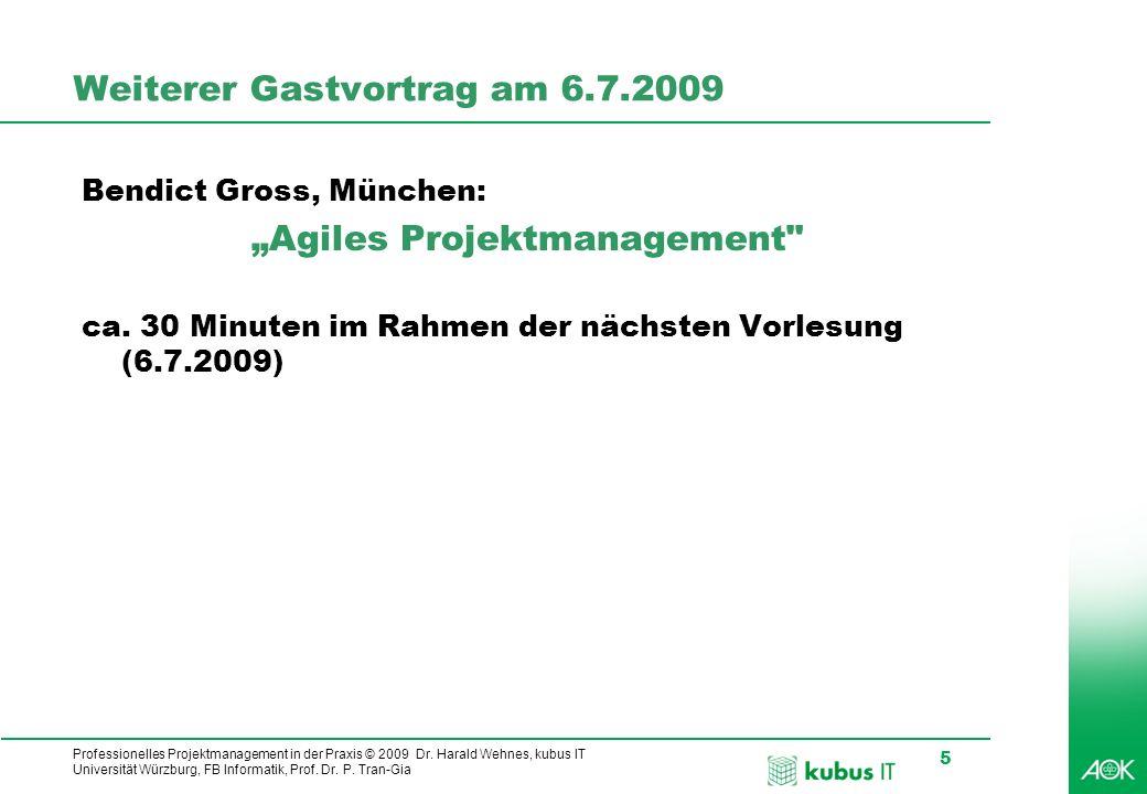 Weiterer Gastvortrag am 6.7.2009