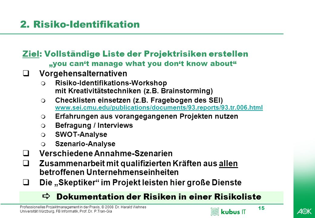 2. Risiko-Identifikation