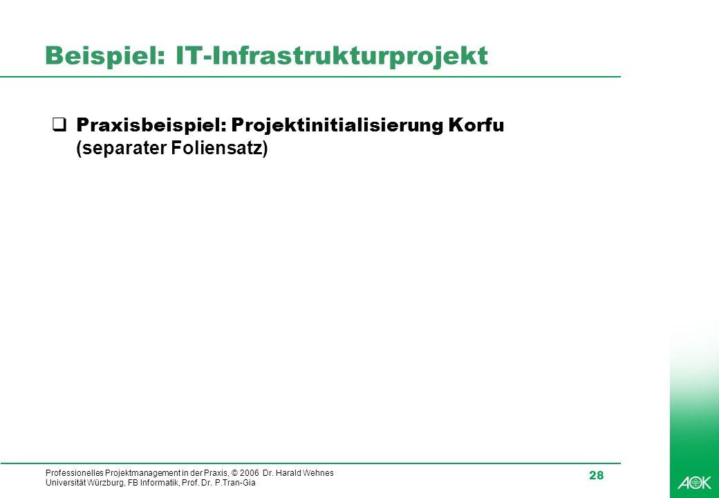 Beispiel: IT-Infrastrukturprojekt