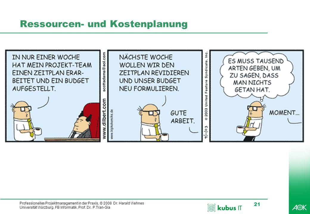 Ressourcen- und Kostenplanung