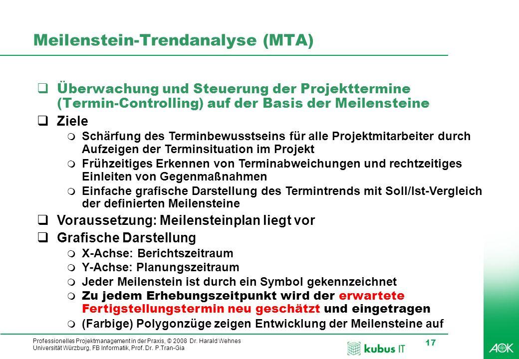 Meilenstein-Trendanalyse (MTA)