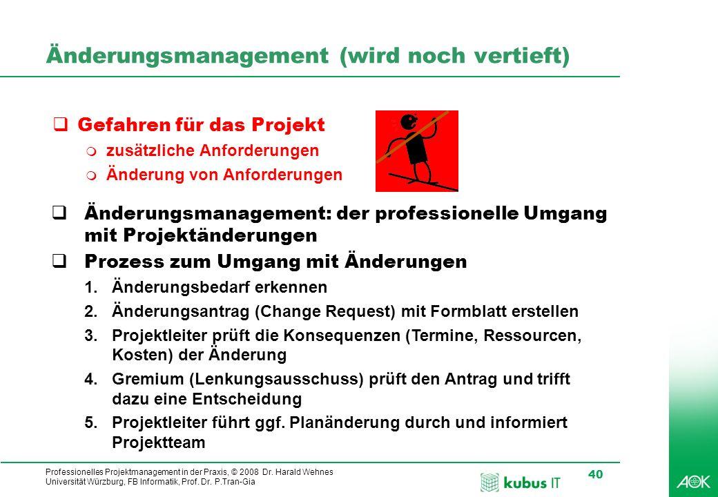 Änderungsmanagement (wird noch vertieft)