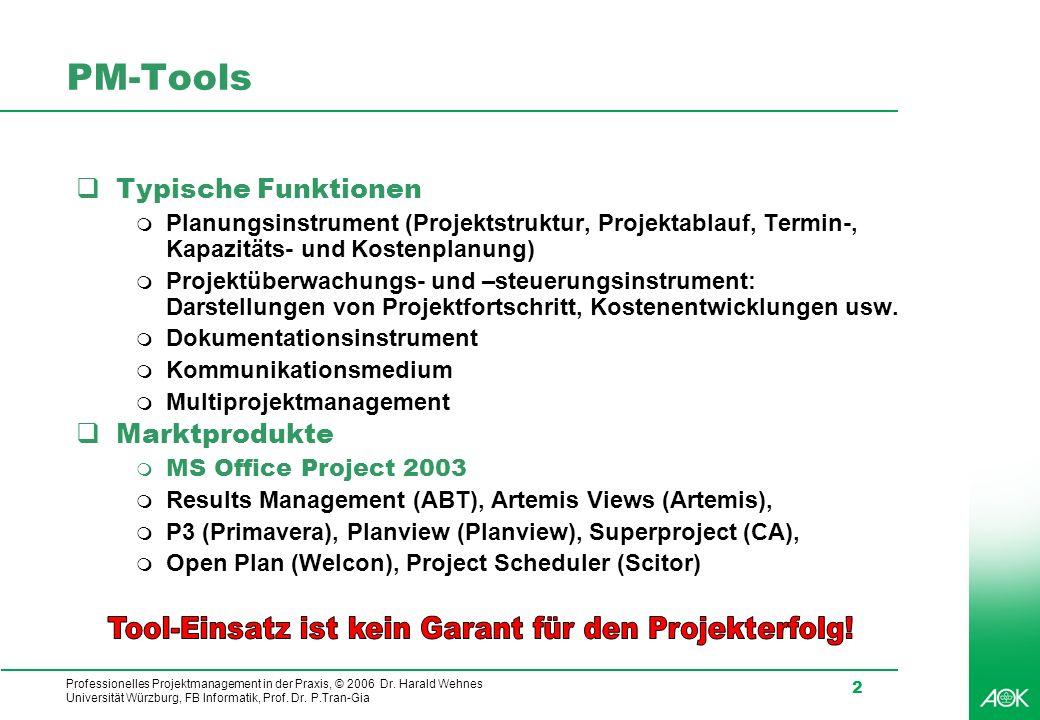 Tool-Einsatz ist kein Garant für den Projekterfolg!