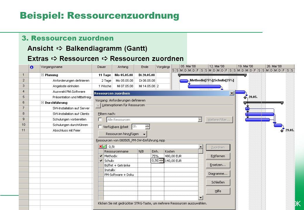 Beispiel: Ressourcenzuordnung