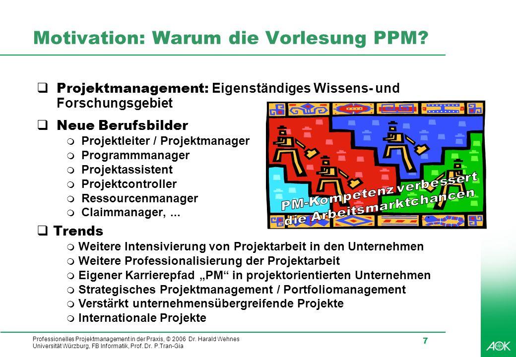 Motivation: Warum die Vorlesung PPM