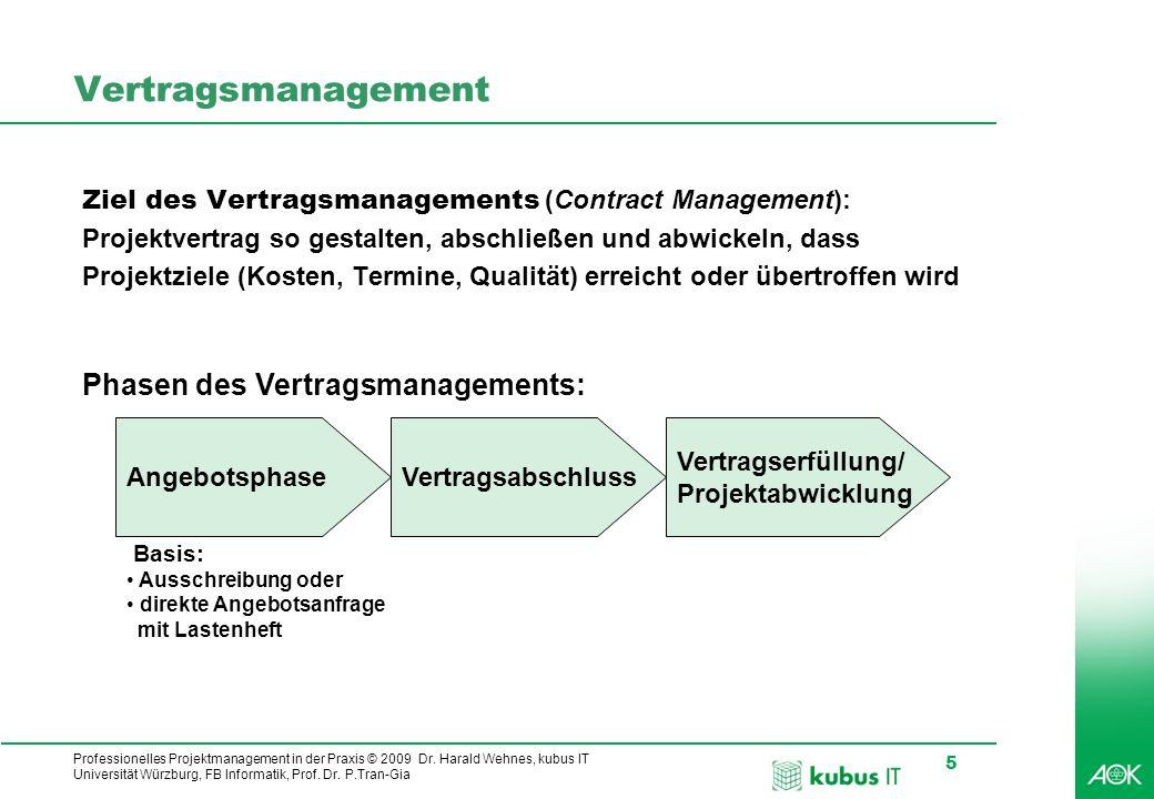 Vertragsmanagement Phasen des Vertragsmanagements: