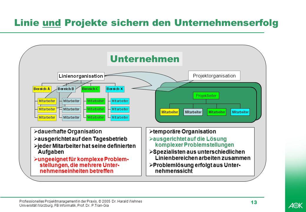 Linie und Projekte sichern den Unternehmenserfolg