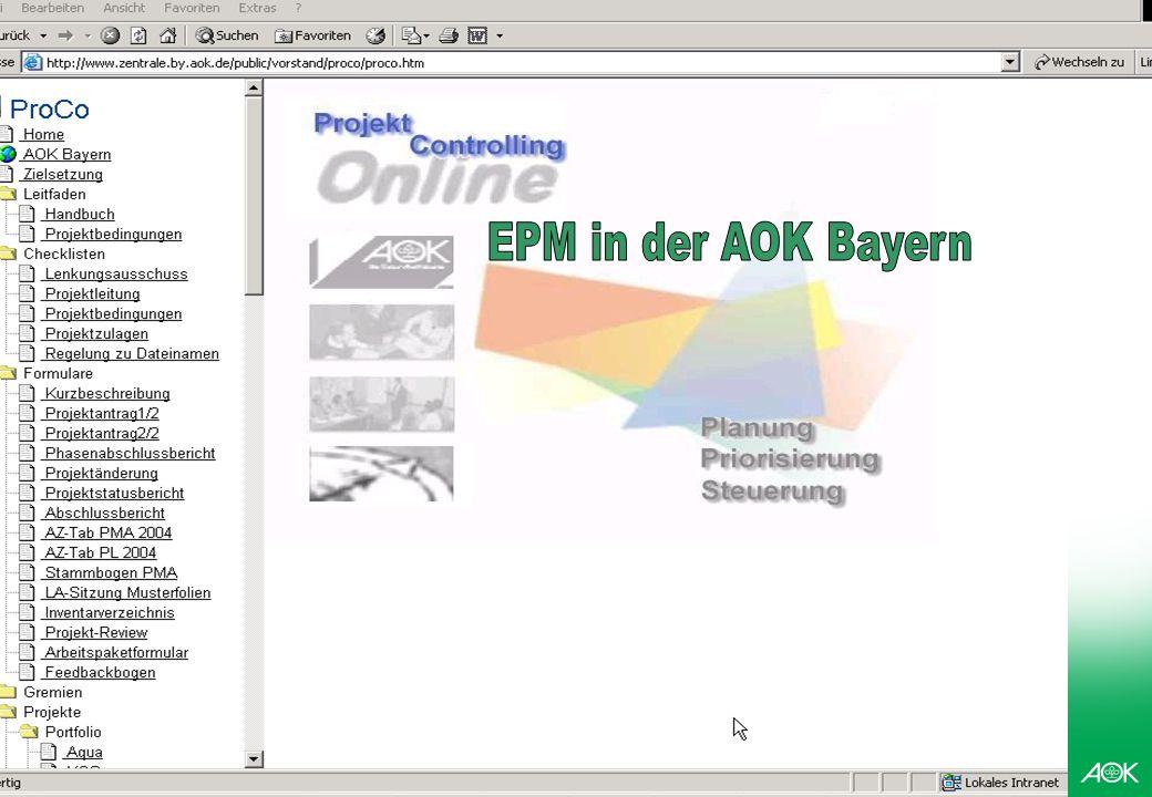 EPM in der AOK Bayern