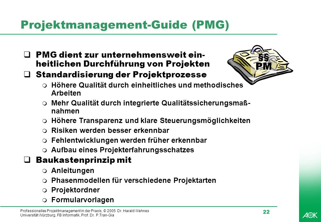 Projektmanagement-Guide (PMG)