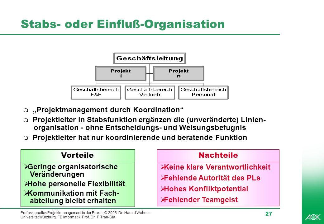 Stabs- oder Einfluß-Organisation