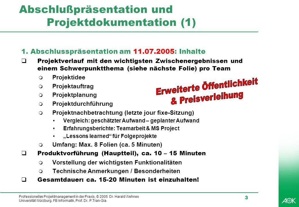 Abschlußpräsentation und Projektdokumentation (1)