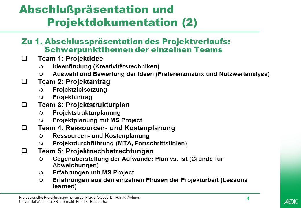 Abschlußpräsentation und Projektdokumentation (2)
