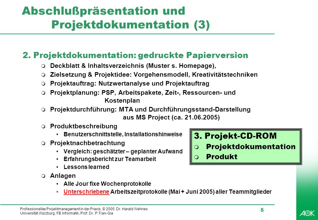 Abschlußpräsentation und Projektdokumentation (3)