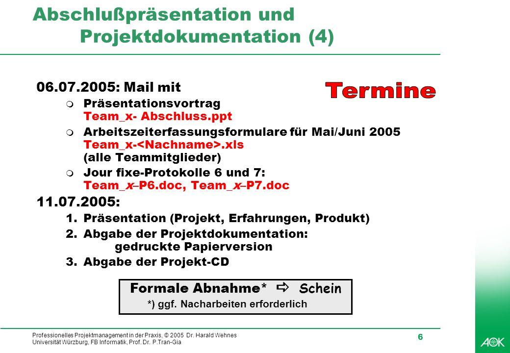 Abschlußpräsentation und Projektdokumentation (4)