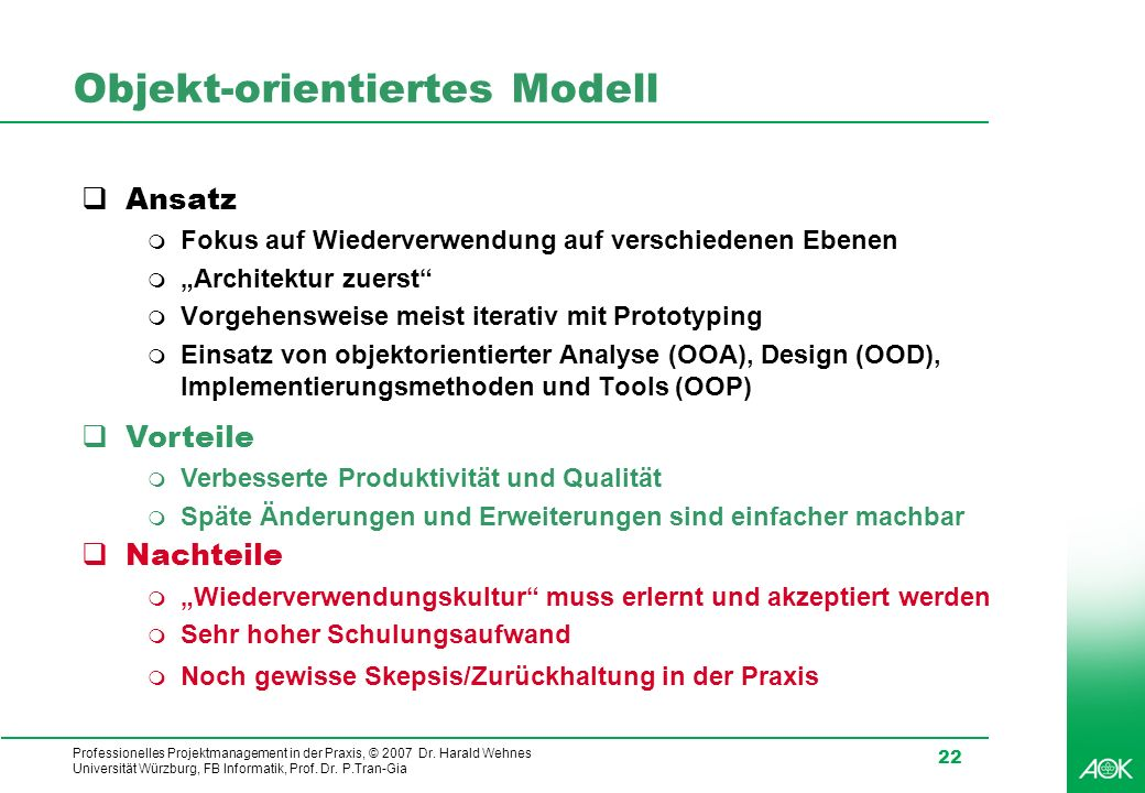 Objekt-orientiertes Modell