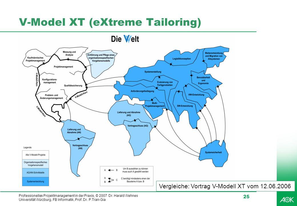 V-Model XT (eXtreme Tailoring)