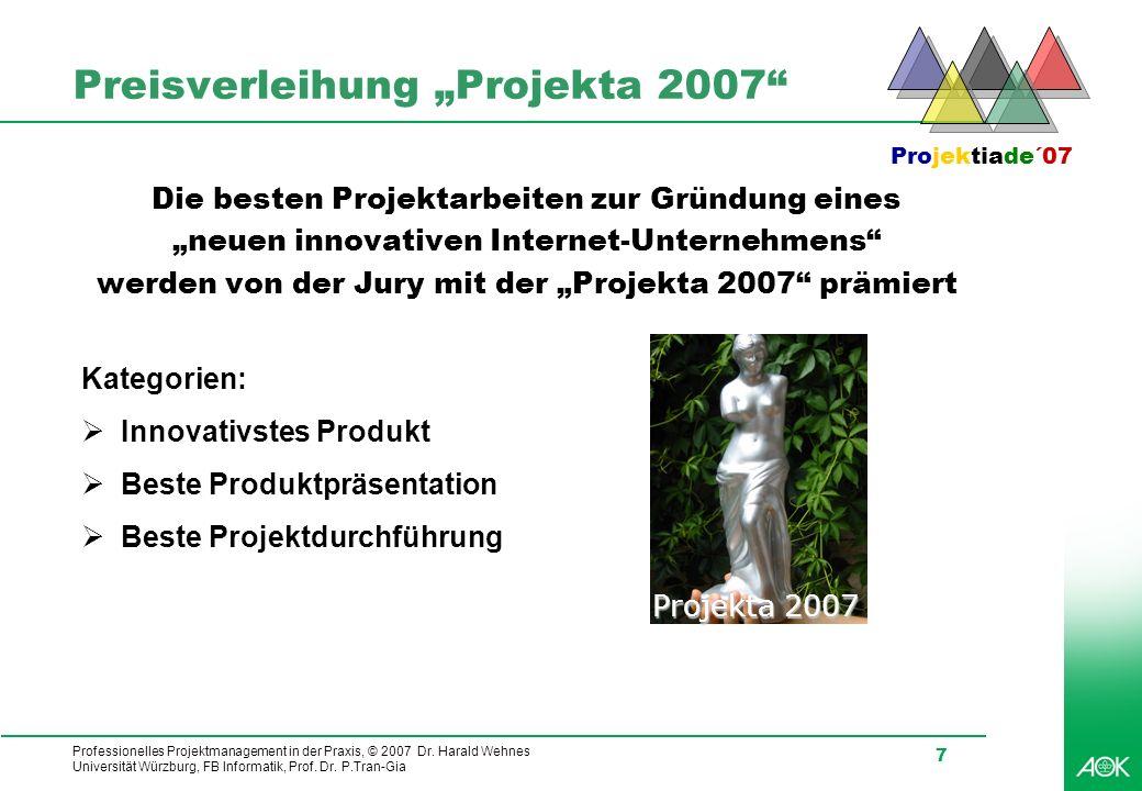 "Preisverleihung ""Projekta 2007"