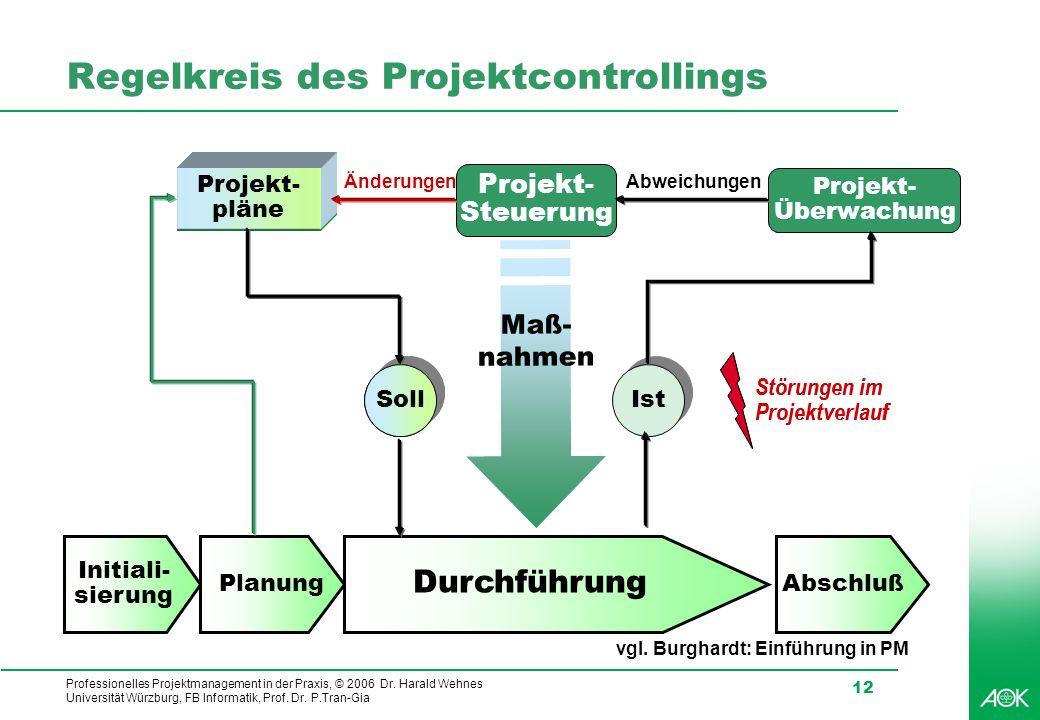 Regelkreis des Projektcontrollings