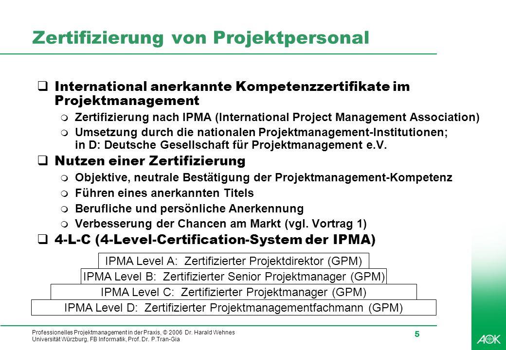 Zertifizierung von Projektpersonal