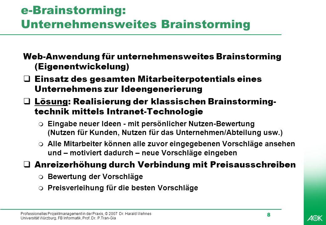 e-Brainstorming: Unternehmensweites Brainstorming