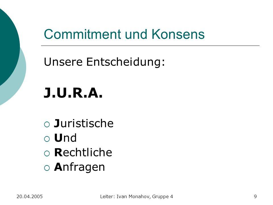 Commitment und Konsens