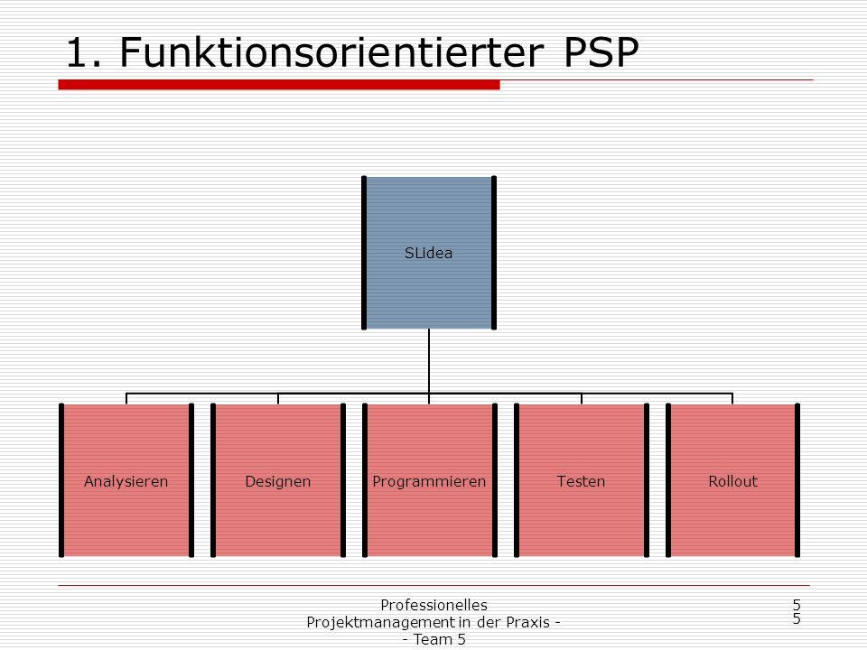 1. Funktionsorientierter PSP