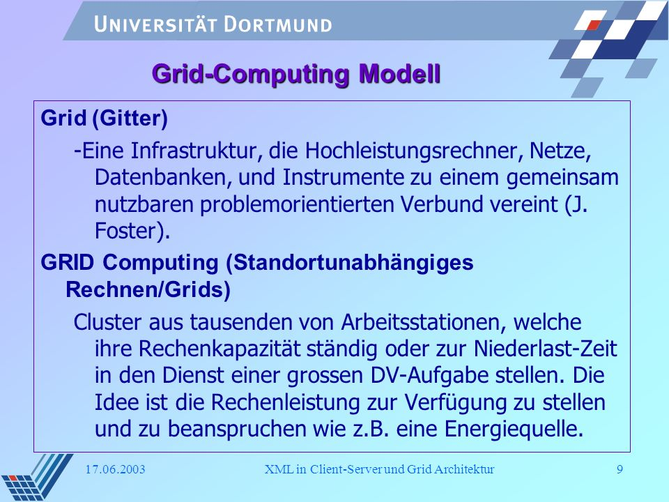 Grid-Computing Modell