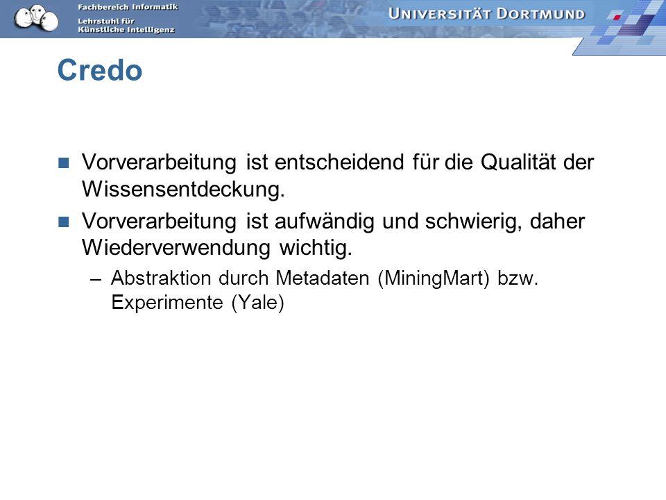 Credo Vorverarbeitung ist entscheidend für die Qualität der Wissensentdeckung.
