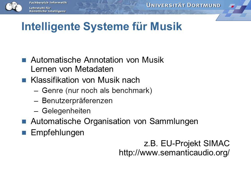 Intelligente Systeme für Musik