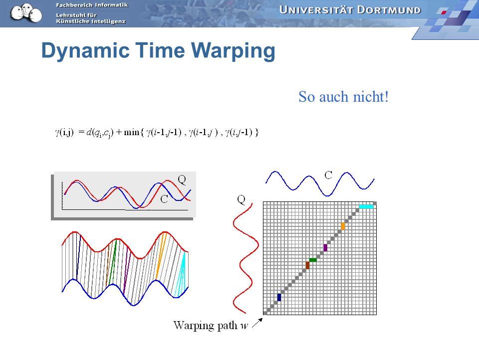 Dynamic Time Warping So auch nicht!