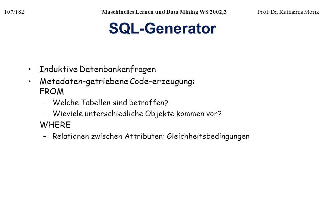 SQL-Generator Induktive Datenbankanfragen