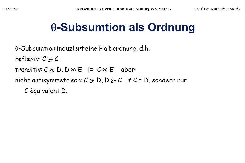 q-Subsumtion als Ordnung