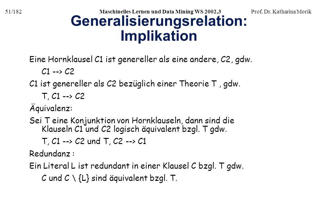 Generalisierungsrelation: Implikation