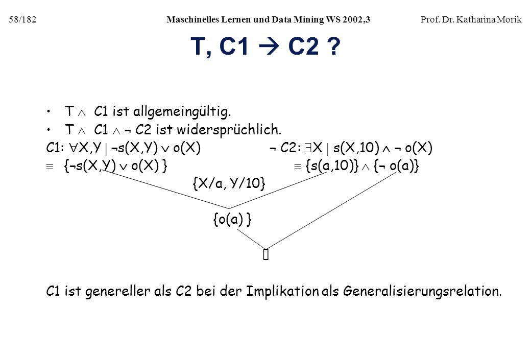 T, C1  C2 T  C1 ist allgemeingültig.