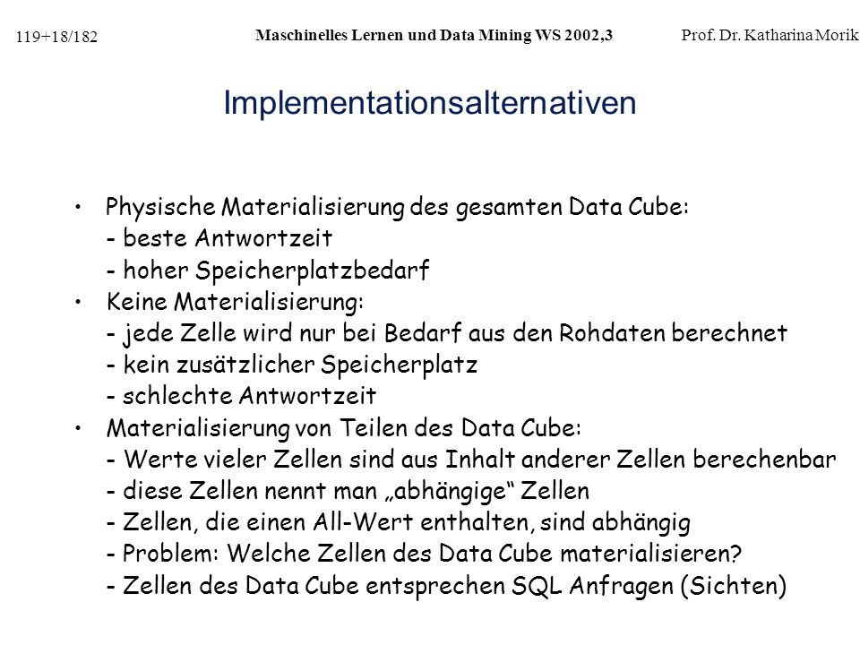 Implementationsalternativen