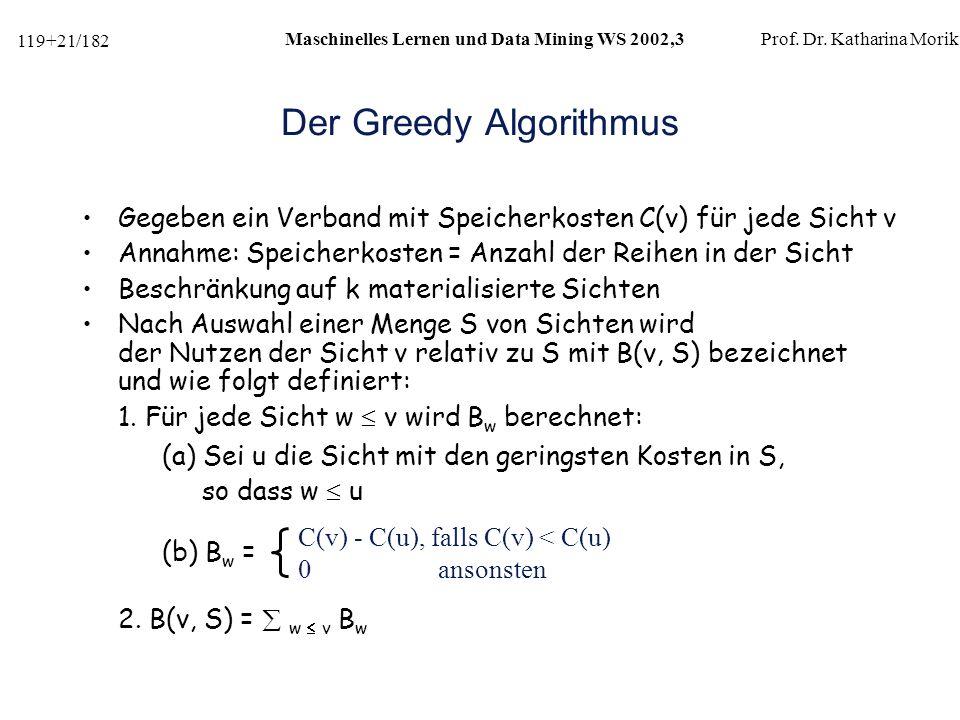 Der Greedy Algorithmus
