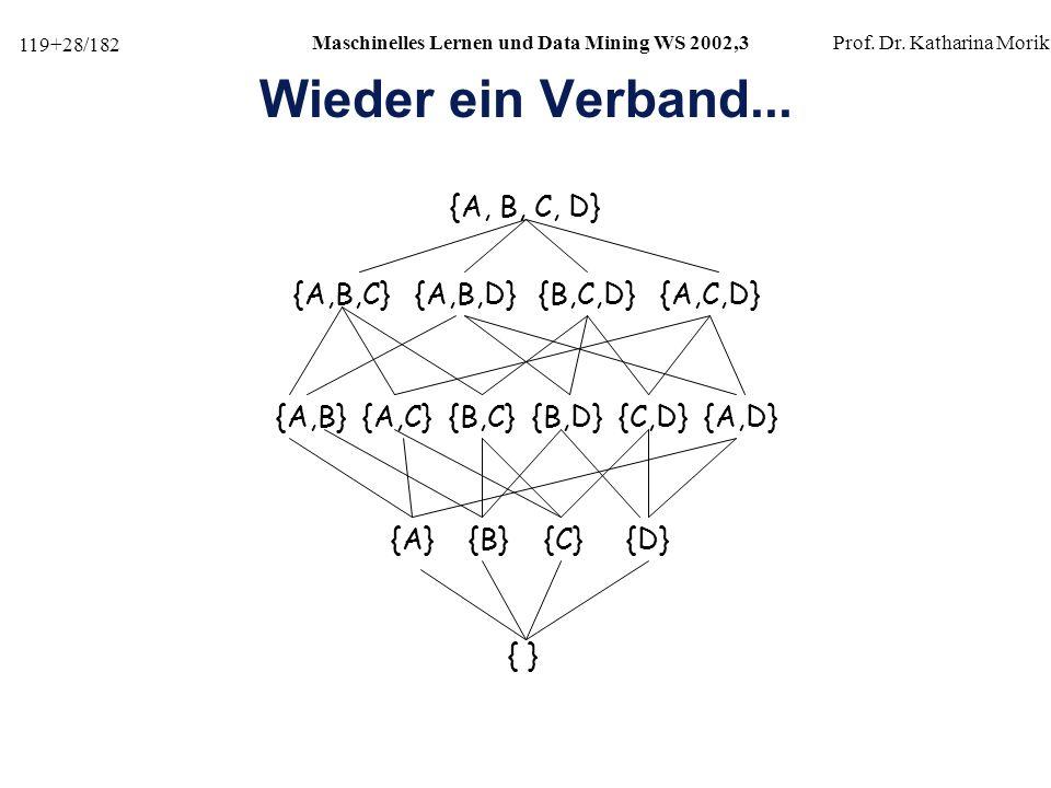 Wieder ein Verband... {A, B, C, D} {A,B,C} {A,B,D} {B,C,D} {A,C,D}