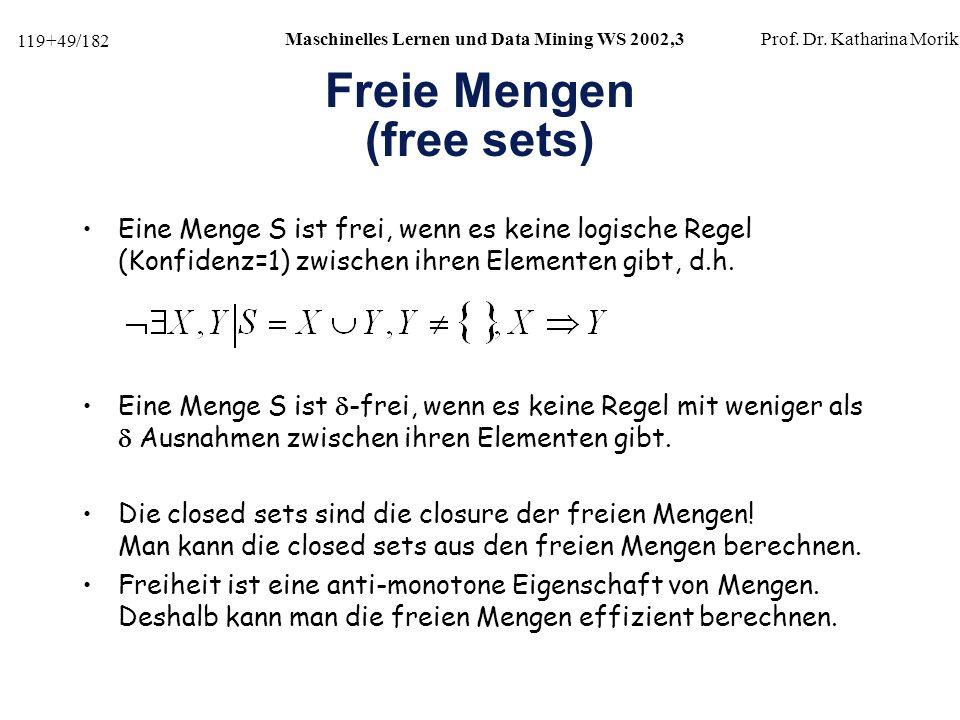 Freie Mengen (free sets)